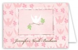 Descending Dove Pink Note Card