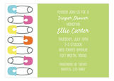 Diaper Pins Shower Invitation