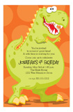Dinoroar Kids Birthday Party Invitation