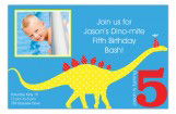 Dinosaur Party Photo Card