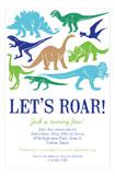 Dinosaur Silhouettes Invitation