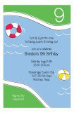 Dive In Blue Swim Party Invitation