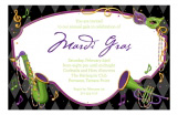 Dixieland Mardi Gras Invitation