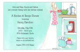 Domestic Delight Kitchen Shower Invitation