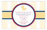 Ducky Emblem Invitation