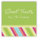 Easter Candy Stripes Gift Tag