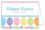 Easter Eggs Folded Note Card