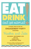 Eat Drink Get Married Invitation