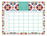 Eating Schedule Calendar Pad