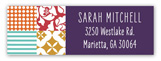 Eclectic Patchwork Address Label