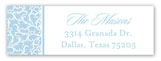 Efflorescence Cross Blue Address Label