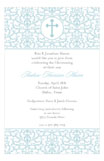 Efflorescence Cross Blue Invitation