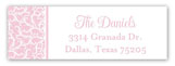 Efflorescence Cross Pink Address Label