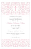 Efflorescence Cross Pink Invitation