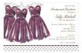 Eggplant Dress Bridesmaid Luncheon Invitations