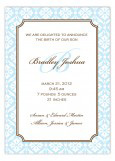 Elegant Baby Boy Announcement with Monogram