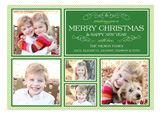 Elegant Merry Christmas Collage Photo Card
