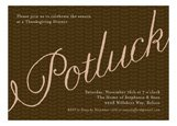 Elegant Potluck Fall Festival Invitations