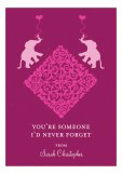 Elephant Walk Valentine Card