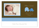 Elephants in Blue Photo Card