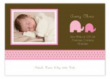 Elephants in Pink Photo Card