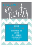 Engagement Party Script Turquoise Invitation