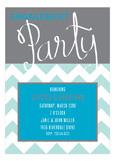 Engagement Party Script Turquoise Invitation