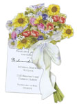English Garden Bouquet Invitation