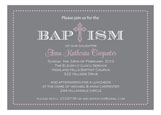 Etched Cross Girl Invitation