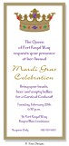 Events Slim Royal Crown Invitation