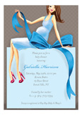 Expecting a Big Gift Boy - Brunette Invitation