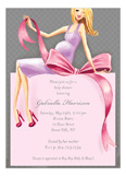 Expecting a Big Gift Girl - Blonde Invitation