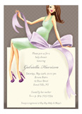 Expecting a Big Gift Neutral - Brunette Invitation