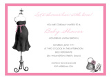Expecting Dress Form Pink Invitation