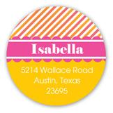 Fabulous First Birthday Round Sticker
