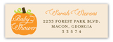 Fall Baby Shower Pumpkin Address Label