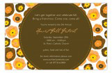 Fall Floral Invitation