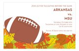 Foliage Fall Football Invitations
