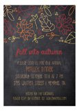 Fall Leaves Chalkboard Invitation