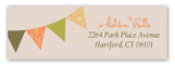 Fall Pennant Flag Address Label