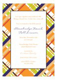 Fall Plaid Invitation