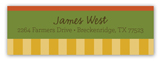Fall Wooden Wagon Address Label