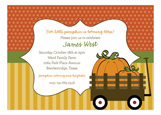 Fall Wooden Wagon Invitation