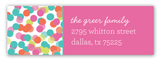Falling Confetti Address Label