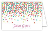 Falling Confetti Folded Note Card