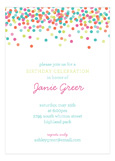 Falling Confetti Pastel Colors Invitation