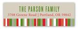 Family Christmas Letter Address Label