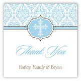Fancy Blue Cross Square Sticker