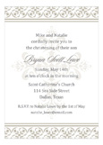 Fancy Cross Gray Invitation