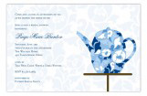 Fancy Fleur Kettle Bridal Tea Invitation
